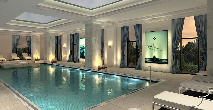 The indoor swimming pool at The Ritz-Carlton Residences, Amman
